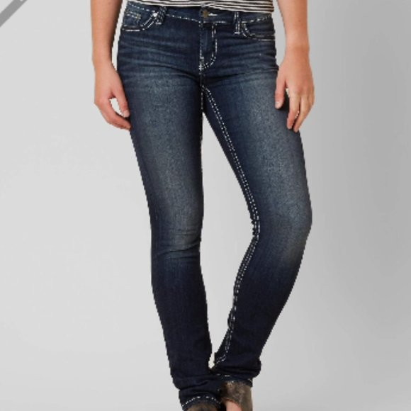 BKE Dakota Skinny Stretch Jeans Mid Rise Denim